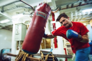 When the gym is busy, or when rowing and running won't cut it, there's always the punch bag.